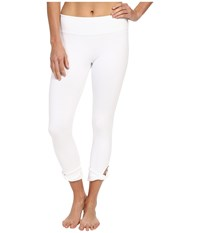 Beyond Yoga Twisted Cuff Capri Leggings White Women's Casual Pants