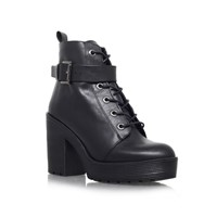 Carvela Sweep High Heel Lace Up Boots Black