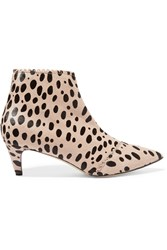 Bionda Castana Luna Animal Print Calf Hair Boots Animal Print