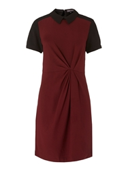 Pied A Terre Tuck And Twist Dress Plain Multi Coloured