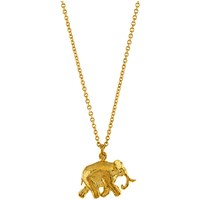Alex Monroe 22Ct Gold Plated Sterling Silver Elephant Pendant Necklace Gold