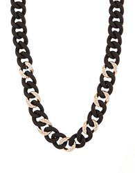 Abs By Allen Schwartz Chain Link Collar Necklace Black