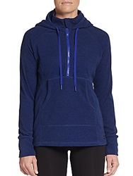Marc New York By Andrew Marc Performance Hooded Half Zip Fleece Pullover Indigo
