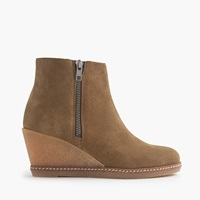 J.Crew Macalister Zip Wedge Boots Faded Chino