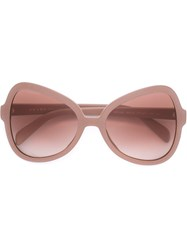Prada Cat Eye Frame Sunglasses Pink And Purple