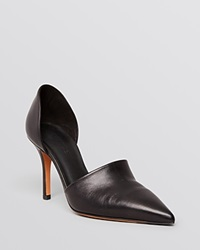 Vince Pointed Toe D'orsay Pumps Claire High Heel Black