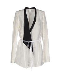Isabel Benenato Suits And Jackets Blazers Women White