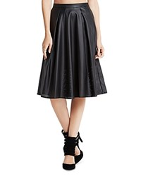 Bcbgeneration Perforated Faux Leather A Line Skirt Black