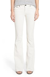 Rag And Bone Women's Rag And Bone Jean Bell Bottom Corduroy Pants Winter White