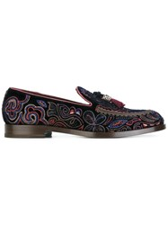 Fratelli Rossetti Embroidered Loafers Blue