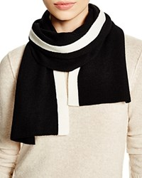 Theory Alandrina Color Block Cashmere Scarf Bloomingdale's Exclusive Black Ivory