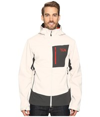 Mountain Hardwear Dragon Hooded Jacket Stone Men's Jacket White