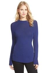 Ellen Tracy Two Tone Rib Knit Pullover Regular And Petite Lapis