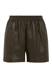 Givenchy Shorts In Army Green Leather