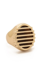 Maison Martin Margiela Stone Grille Thumb Ring Gold Natural Stone