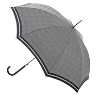 Fulton Riva Prince Of Wales Check Walking Umbrella Black
