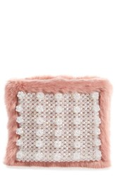 Shrimps Beaded Faux Fur Clutch