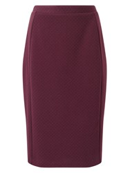 Eastex Textured Ponte Pencil Skirt Red