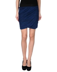 Numph Mini Skirts Dark Blue