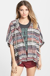 Billabong 'Shadow Views' Open Front Hoodie Multi
