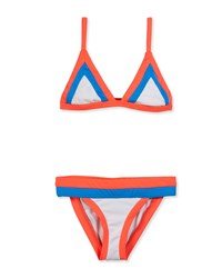 Milly Minis Amalfi Colorblock Two Piece Swimsuit Multicolor Size 8 14 Girl's Size 8 Multi Colors