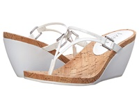 Lauren Ralph Lauren Rula Clear Rl White Pvc Patent Pu Women's Flat Shoes