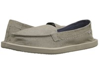 Sanuk Shorty Tx Natural Chambray Women's Flat Shoes White