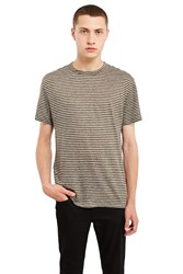 Alexander Wang Striped Linen T Shirt Army Green