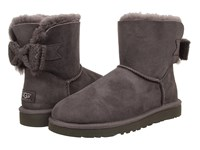 Ugg Mini Bailey Knit Bow Granite Twinface Women's Cold Weather Boots Brown