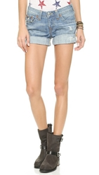 True Religion Jayde Boyfriend Shorts Wagoneer