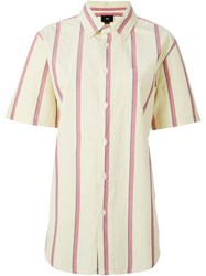 Obey Candy Stripe Shirt Yellow And Orange
