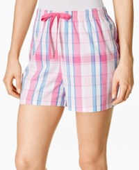 Charter Club Printed Boxer Shorts Only At Macy's Pink Plaid