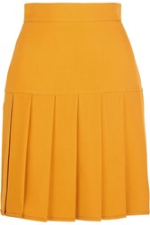 Gucci Pleated Silk And Wool Blend Crepe Mini Skirt