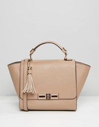 Dune Winged Tote Bag Taupe Beige