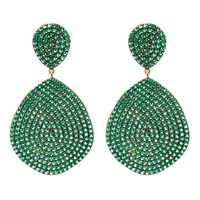 Latelita London Monte Carlo Earring Gold Emerald Zircon Gold Green