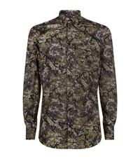 Dolce And Gabbana Camouflage Pocket Shirt Male Green