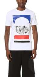 Mcq By Alexander Mcqueen Short Sleeve Tribal Tee Optic White