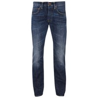 Edwin Men's Ed55 Relaxed Tapered Denim Jeans Breeze Used Blue