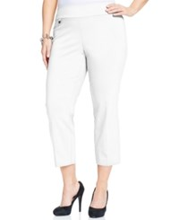 Alfani Plus Size Pull On Capri Pants Only At Macy's White