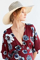 Silence And Noise Silence Noise Striped Oversized Floppy Hat Neutral
