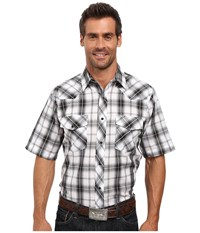 Roper 0303 Dark Night Plaid W Silver Lurex Black Men's Clothing