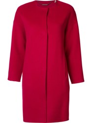 Elie Tahari Single Breasted Coat Red