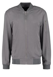 New Look Bomber Jacket Pale Grey