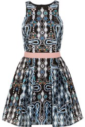 Peter Pilotto Circle Printed Cloque Mini Dress Multi