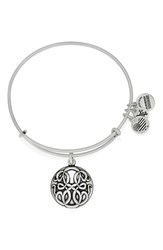 Women's Alex And Ani 'Path Of Life' Charm Bracelet Silver