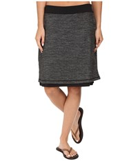 Exofficio Wanderlux Jacquard Reversible Skirt Charcoal Heather Women's Skirt Gray