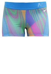 Nike Performance Pro Hypercool Frequency Tights Light Photo Blue Hyper Pink Turquoise