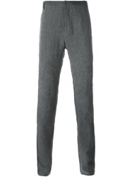 Label Under Construction Straight Leg Trousers Grey