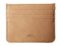Obey Gentry Id Wallet Tan Wallet Handbags