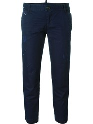 Dsquared2 Cropped Trousers Blue